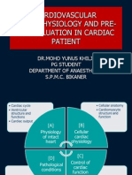 Cardiovascular Pathophysiology and Pre-op Evaluation in Cardiac Patient