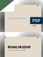 bivalirudin & dapoxetine