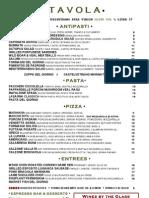 Tavola menu
