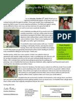 Heather Matthews Prayer Letter 9 2012