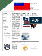 Periodico Escolar Septiembre Escuela Gabriela Mistral F 536