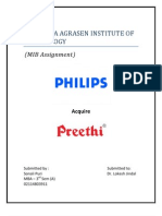 Philips Acquisition Preethi