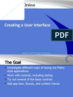 Creating a User Interface