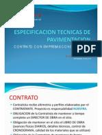 Presentacion Especificacion Tecnicas de Pavimentacion