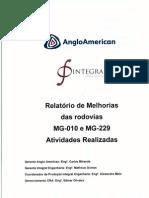 Relatório de Melhorias das Rodovias MG10 e MG 229