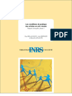 Bellavance, G., Bernier, L., Laplante, B. - Les conditions de pratique des artistes en arts visuels