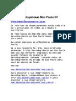 Desentupidoras São Paulo SP Telefones e Endereços