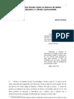 Considerações iniciais sobre os bancos de dados - Danilo Doneda