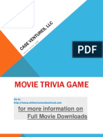 Movie Trivia Game Ppt