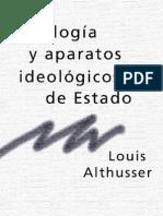 Althusser Ideologia y Aparatos Ideologicos de Estado