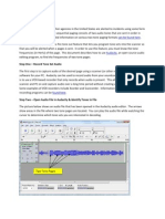 Finding Tones With Audacity