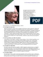 Noam Chomsky Les Dix Strat Gies de Manipulation de Masses 1