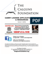 Calguns Foundation Carry License (LTC/CCW) Guide v1.1