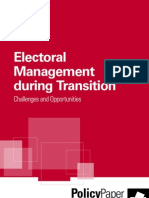 Electoral Management During Transition IDEA INTERNATIONAL