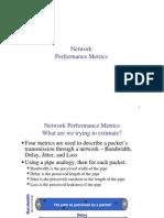 שפות סימולציה- הרצאה 3   Network Performance Metrics