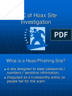 ABC of Hoax Site Investigation