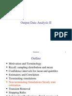 שפות סימולציה- הרצאה 13 | Output Data Analysis II
