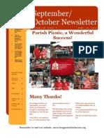 September & October Newsletter, 2012