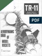 Aerodynamic Drag of Model Rockets