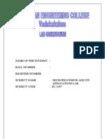Microprocessor Lab Manual Anna
