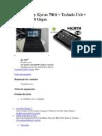 Tablet Coby Kyros 7016