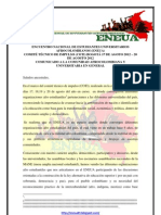 COMUNICADO FRENTE A LA MOVILIZACIÓN ESTUDIANTIL NACIONAL