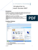 Access 2007, Introduction 11-27-07
