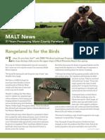 2012 Summer Marin Agricultural Land Trust Newsletter
