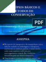 Princípios básicos e métodos de conservação