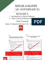 Dody Firmanda 2012 - Materi Kuliah Clinical Governance  (3 dari 16) - Introduksi Clinical Pathways