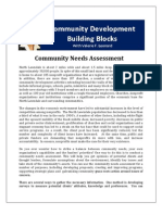 Community Development Building Blocks-Community Needs Assessment