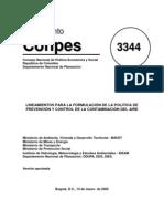 Prevención y Control de la contaminación del aire Conpes3344Aire