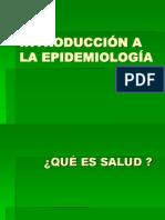 CLASE INTRODUCCIÓN A LA EPIDEMIOLOGÍA 2011