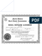 Rick Berg's Real Estate License for Goldmark Property Management