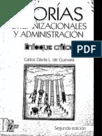 DÁVILA, Carlos, Teorías organizacionales y administración - Enfoque crítico