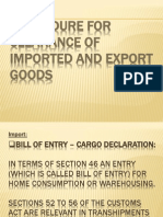 Customs Procedures