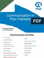 Communication in Plan Pakistan