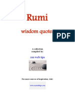 Rumi Wisdom Quotes From Zenwebtips.com-