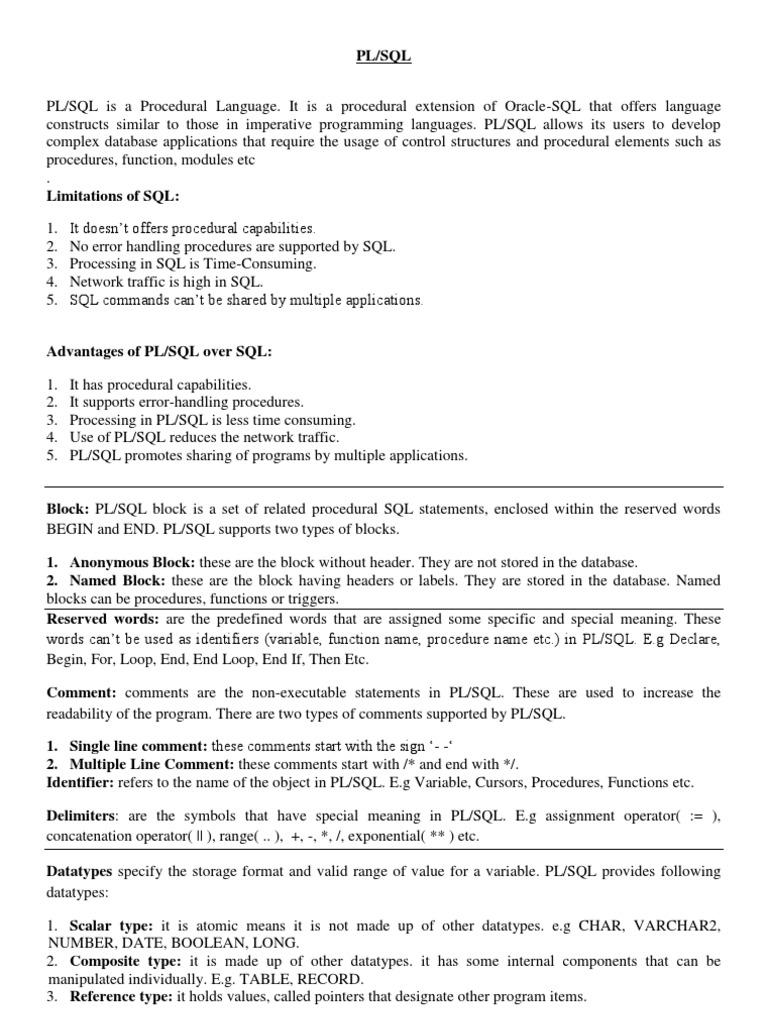 Plsql imp plsql parameter computer programming biocorpaavc