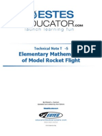 Model Rocketry Mathematics