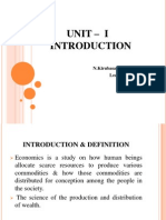 UNIT –  I INTRODUCTION