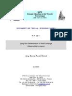 Longrun Determinants of Real Exchange Rates in Latin America