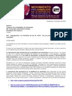Impugnación a la iniciativa 4434 de Ama y ex diputada Zury Rios. Marzo 2012.