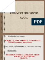 Common Errors 2