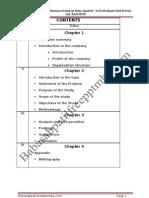 A Project Report on Ratio Analysis at Patel Shanti Steel Private Ltd, RAICHUR