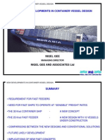 New Developments in Container Vessel