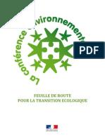 Feuille de route pour la transition écologique