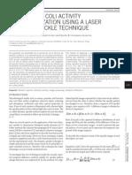 Escherichia coli activity characterization using a laser dynamic speckle technique