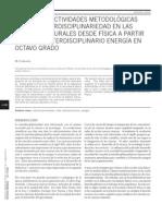 Sistema de actividades metodológicas para la interdisciplinariedad en las ciencias naturales desde física a partir del nodo interdisciplinario energía en octavo grado
