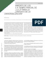 El entrenamiento de los profesores a tiempo parcial de Física de la U.C.P para la E.T.P en el contexto de la universalización